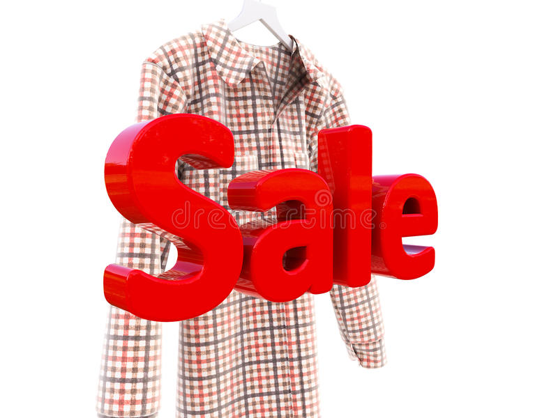 Πωλήσεις και πουκάμισο στοκ φωτογραφίες με δικαίωμα ελεύθερης χρήσης