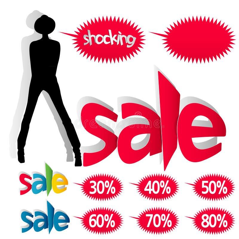 Πωλήσεις μόδας ελεύθερη απεικόνιση δικαιώματος