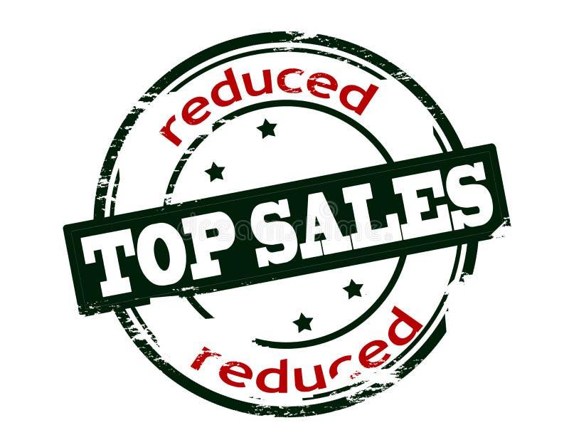 Πωλήσεις που μειώνονται τοπ διανυσματική απεικόνιση