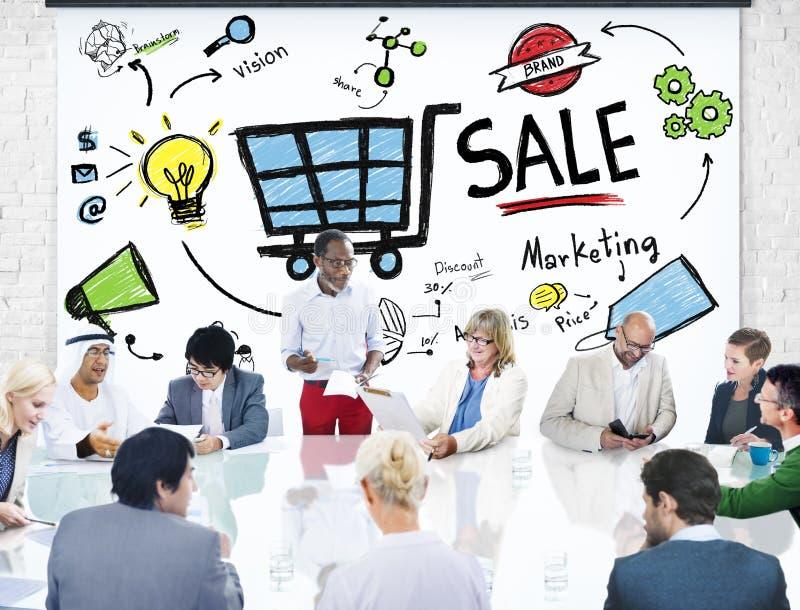 Πωλήσεις πώλησης που πωλούν την έννοια εισοδηματικής πληρωμής χρημάτων εισοδήματος χρηματοδότησης στοκ φωτογραφία