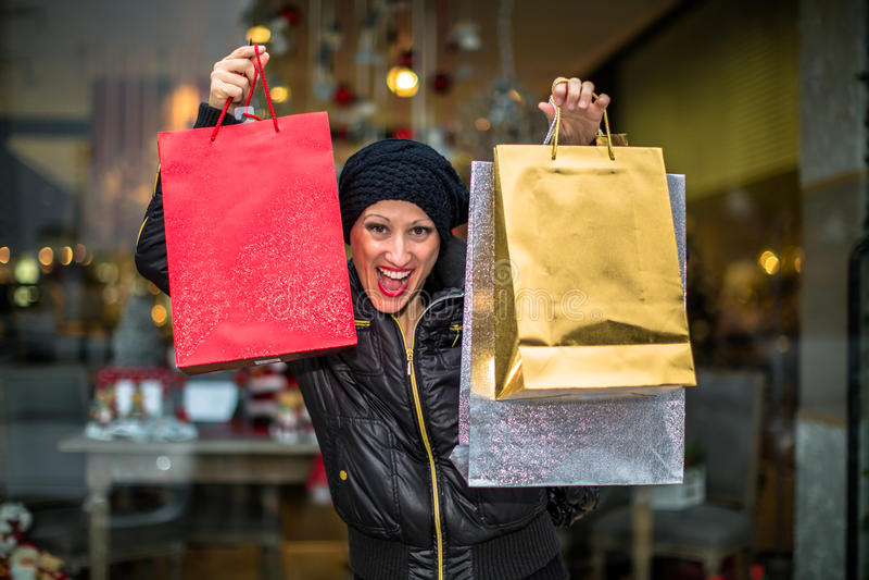 Πωλήσεις Χριστουγέννων στοκ φωτογραφία με δικαίωμα ελεύθερης χρήσης