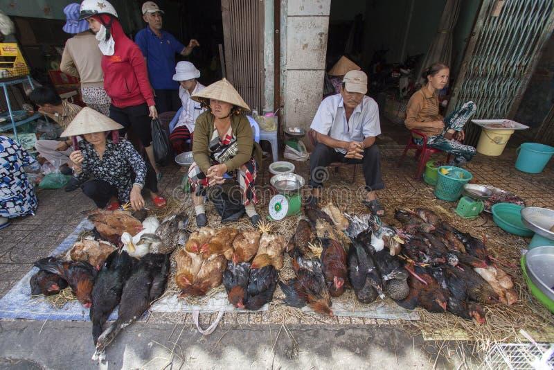 Πωλητές κοτόπουλου στο Βιετνάμ στοκ φωτογραφία με δικαίωμα ελεύθερης χρήσης