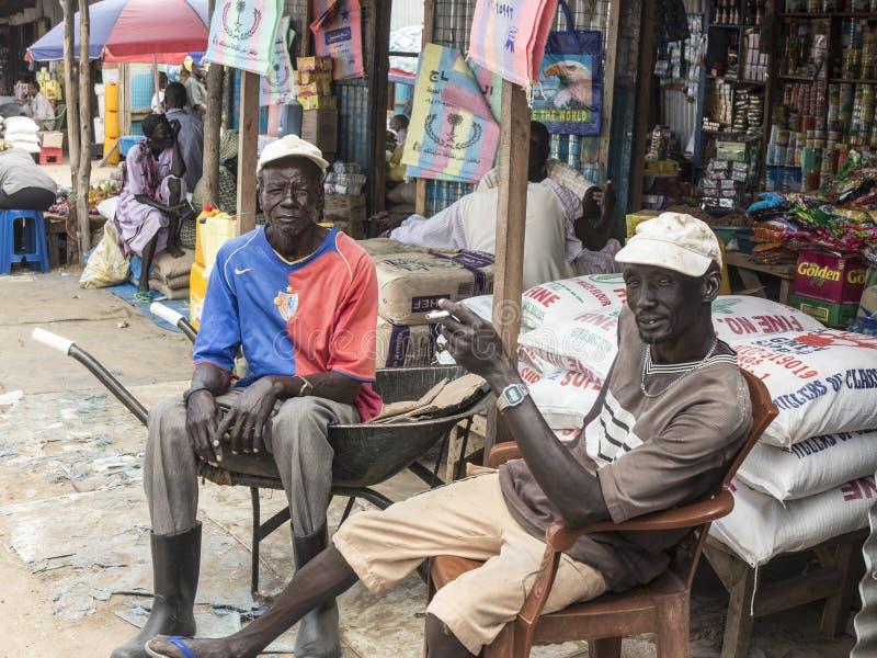 Πωλητές στο Νότιο Σουδάν στοκ εικόνα