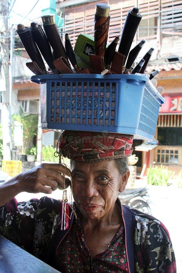 Πωλητής αναμνηστικών στοκ φωτογραφία
