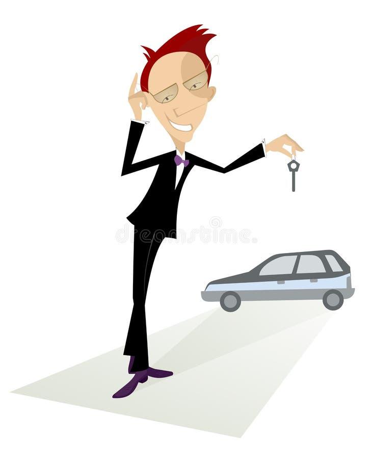 Πωλητής αυτοκινήτων ελεύθερη απεικόνιση δικαιώματος