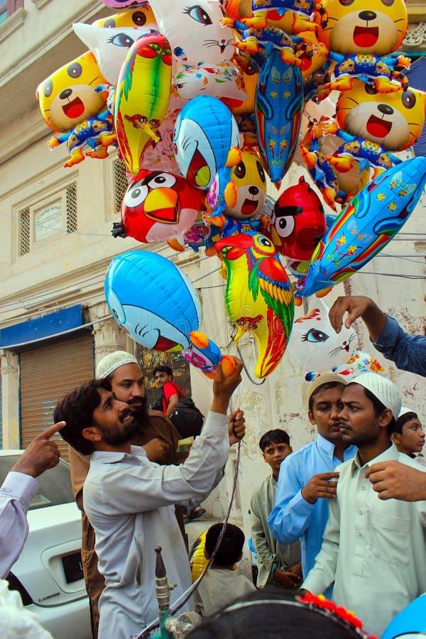 Πωλητής μπαλονιών στοκ φωτογραφίες με δικαίωμα ελεύθερης χρήσης