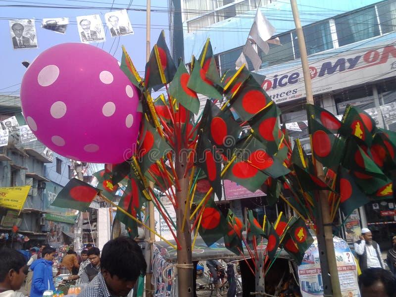 Πωλητής σημαιών στοκ φωτογραφία με δικαίωμα ελεύθερης χρήσης