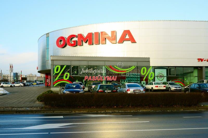 Πωλητής Ogmina ηλεκτρονικής πόλεων Vilnius στην περιοχή Zirmunai στοκ φωτογραφίες