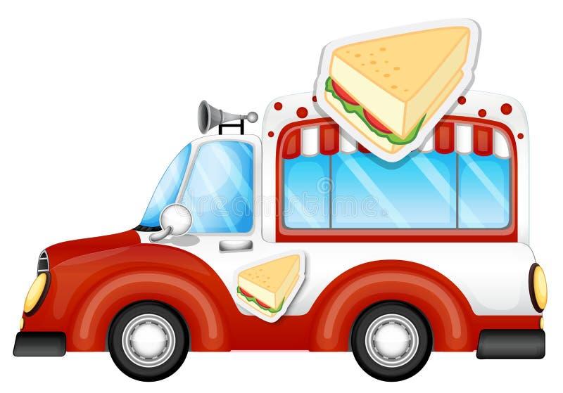 Πωλώντας σάντουιτς οχημάτων απεικόνιση αποθεμάτων