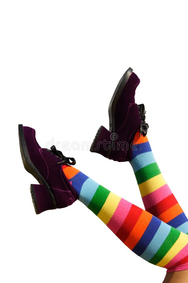 πόδια ευτυχούς λακτίσματος στοκ εικόνα με δικαίωμα ελεύθερης χρήσης