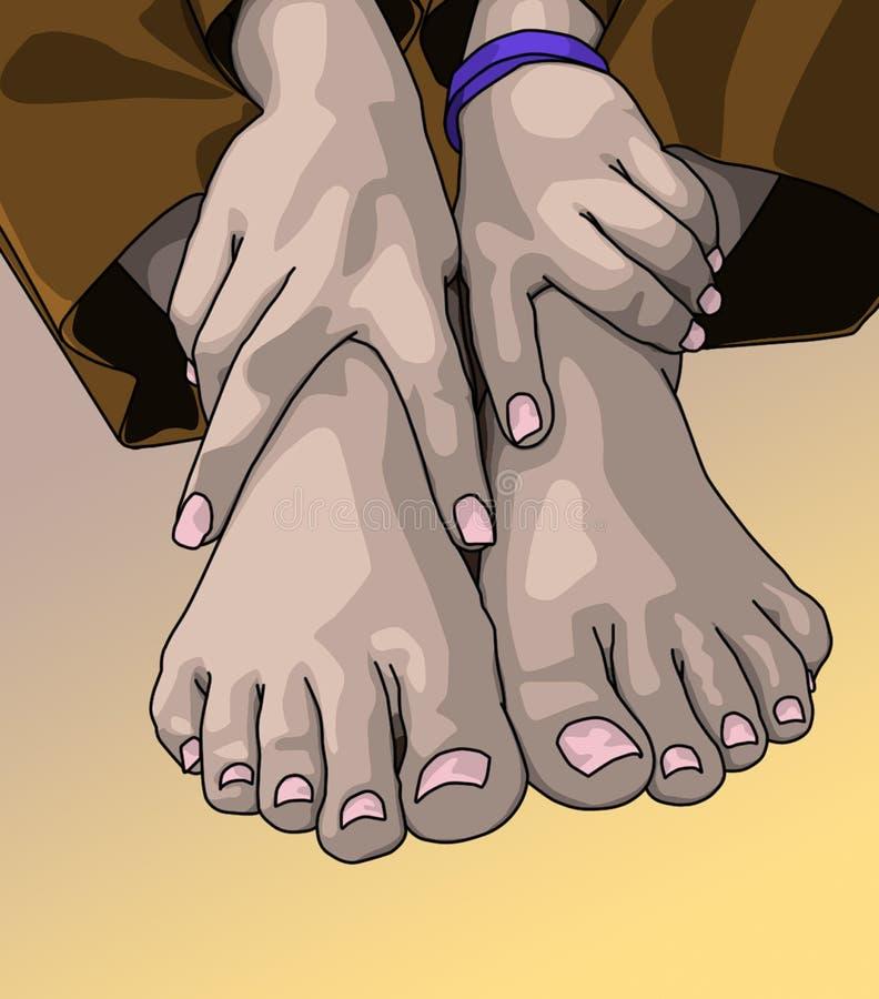 πόδια ζευγαριού χεριών στοκ φωτογραφίες με δικαίωμα ελεύθερης χρήσης