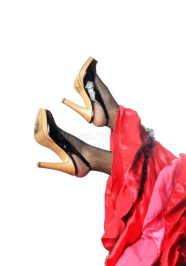 πόδια ισπανικά χορευτών στοκ φωτογραφίες