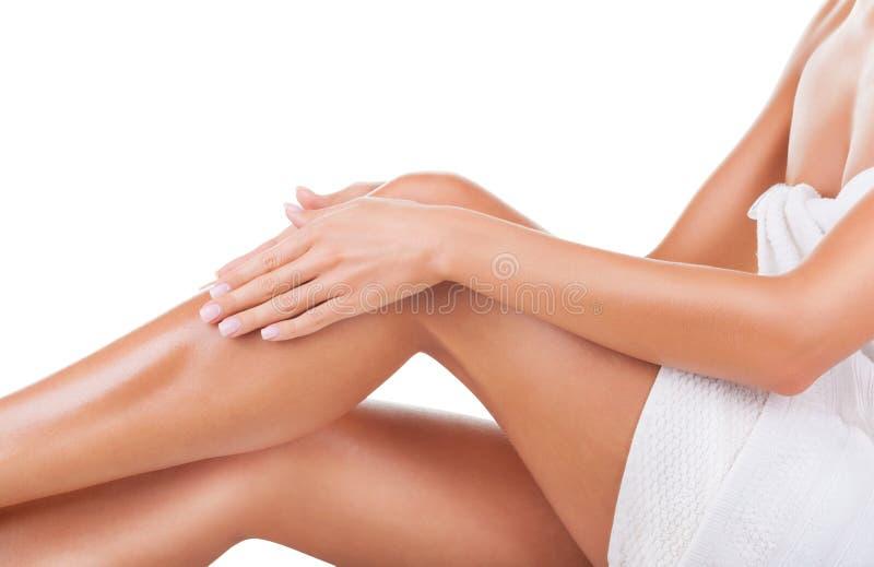 Πόδια μετά από depilation στοκ εικόνες