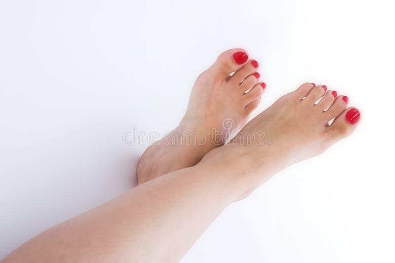 πόδια πέρα από το λευκό στοκ φωτογραφία με δικαίωμα ελεύθερης χρήσης