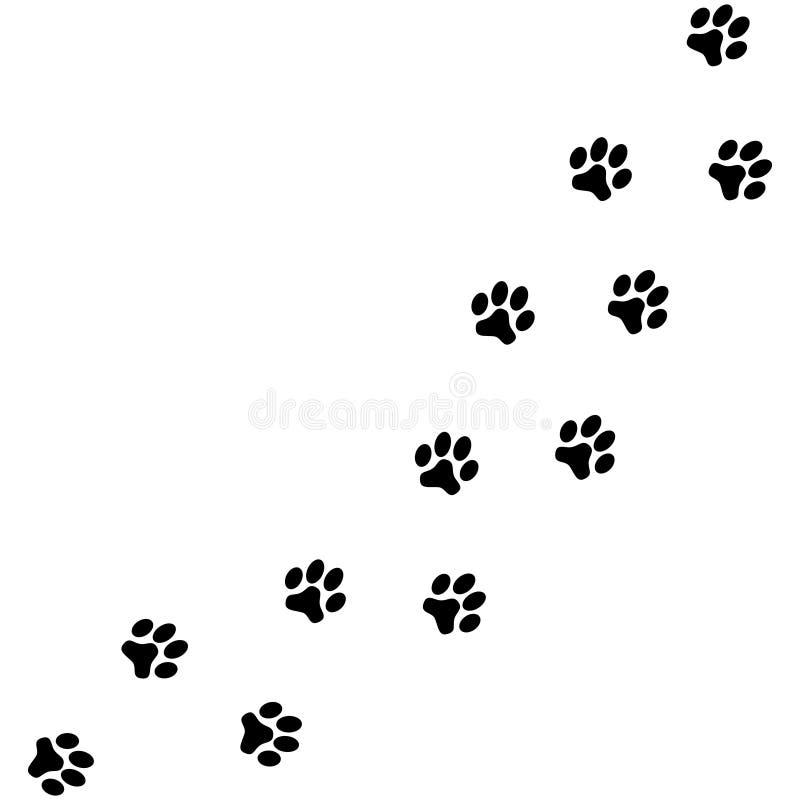 Πόδια σκυλιών ιχνών διανυσματική απεικόνιση