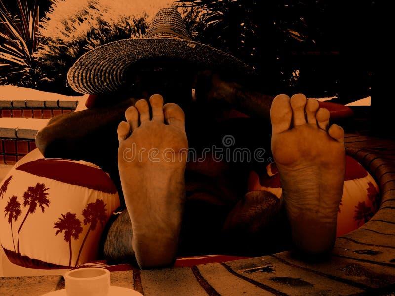 πόδια σομπρέρο στοκ φωτογραφίες