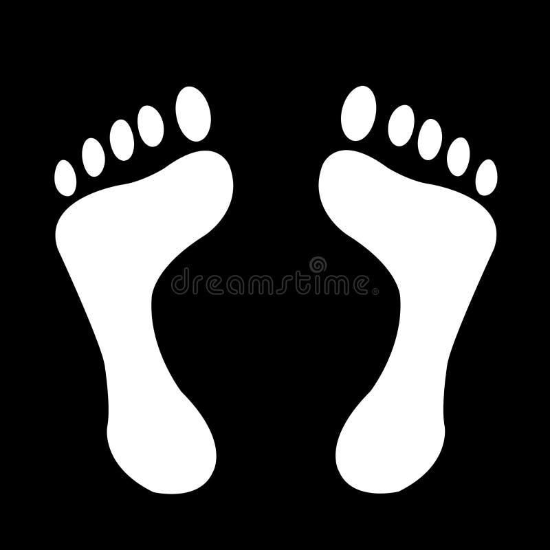 Πόδια συμβόλων σε ένα μαύρο υπόβαθρο στοκ εικόνα