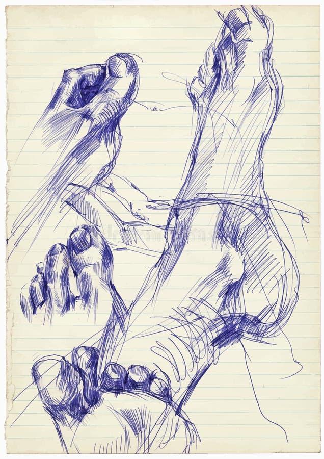 Πόδια διανυσματική απεικόνιση