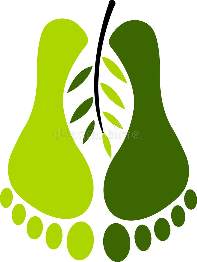 πόδι οικολογίας ελεύθερη απεικόνιση δικαιώματος