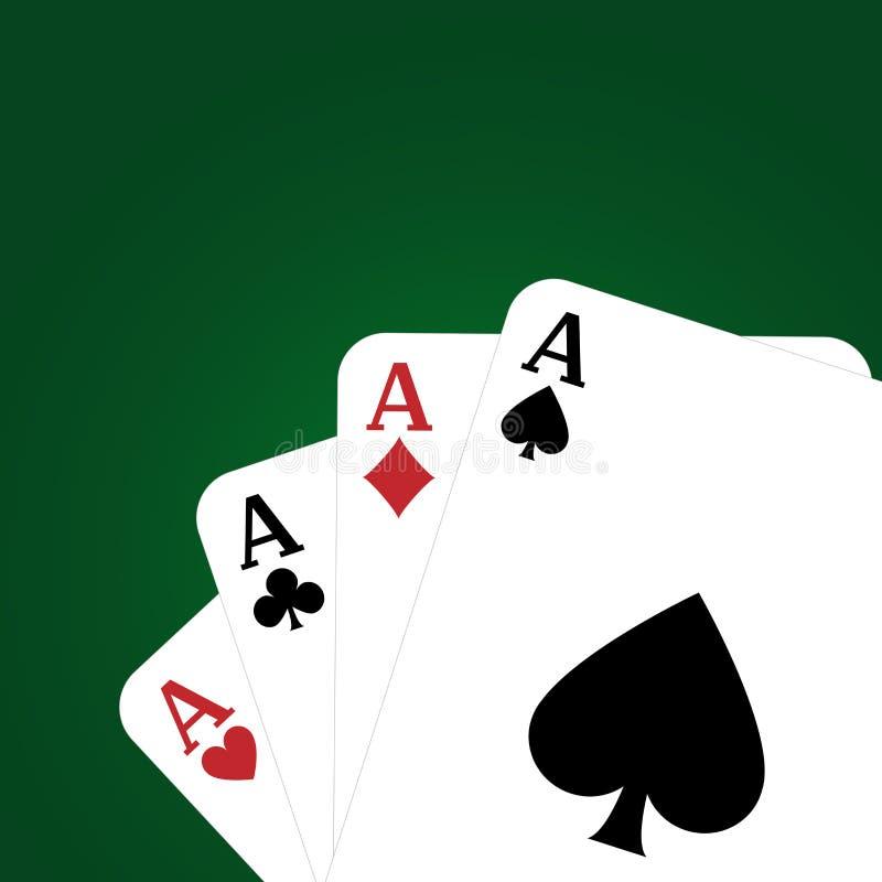 πόκερ ανασκόπησης απεικόνιση αποθεμάτων