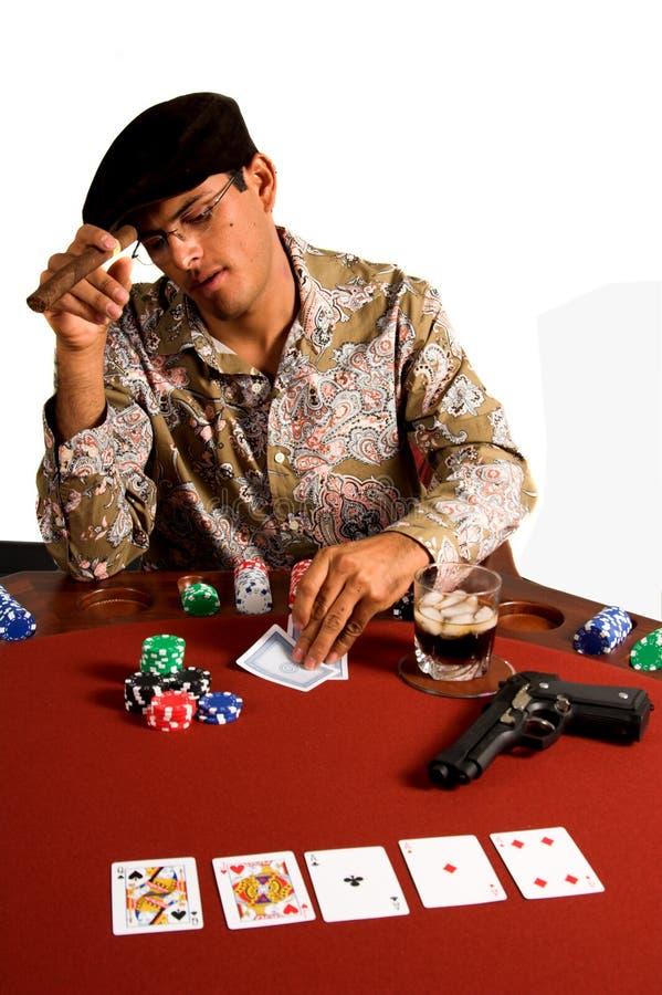 πόκερ γκάγκστερ στοκ φωτογραφία