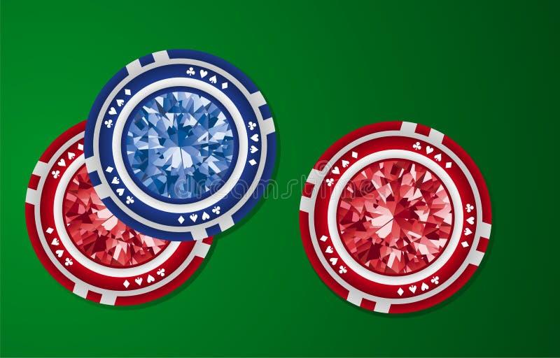 πόκερ διαμαντιών απεικόνιση αποθεμάτων