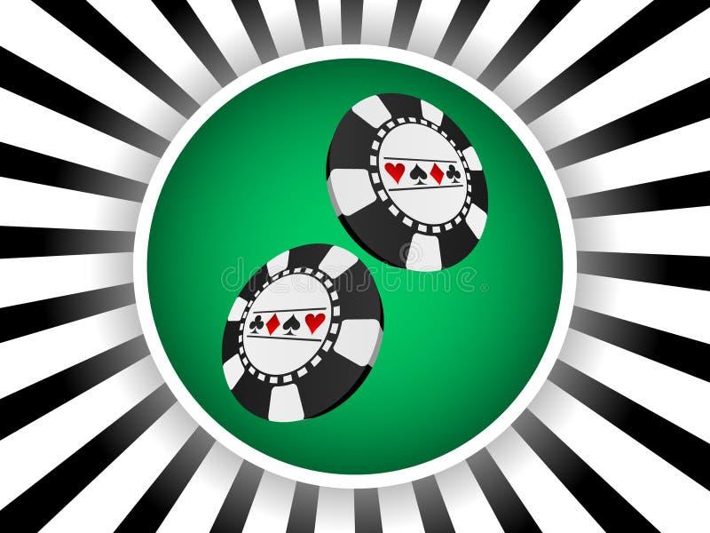 πόκερ εμβλημάτων ελεύθερη απεικόνιση δικαιώματος