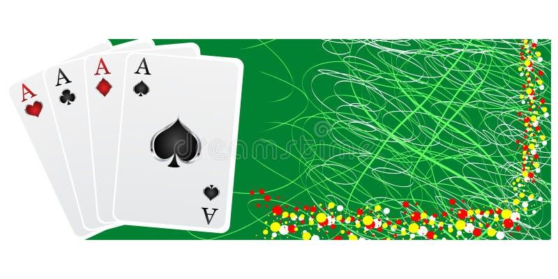 πόκερ εμβλημάτων διανυσματική απεικόνιση