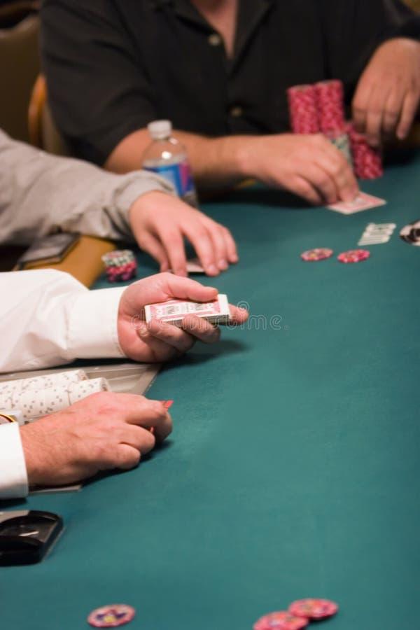 πόκερ εμπόρων χαρτοπαικτι&k στοκ φωτογραφία