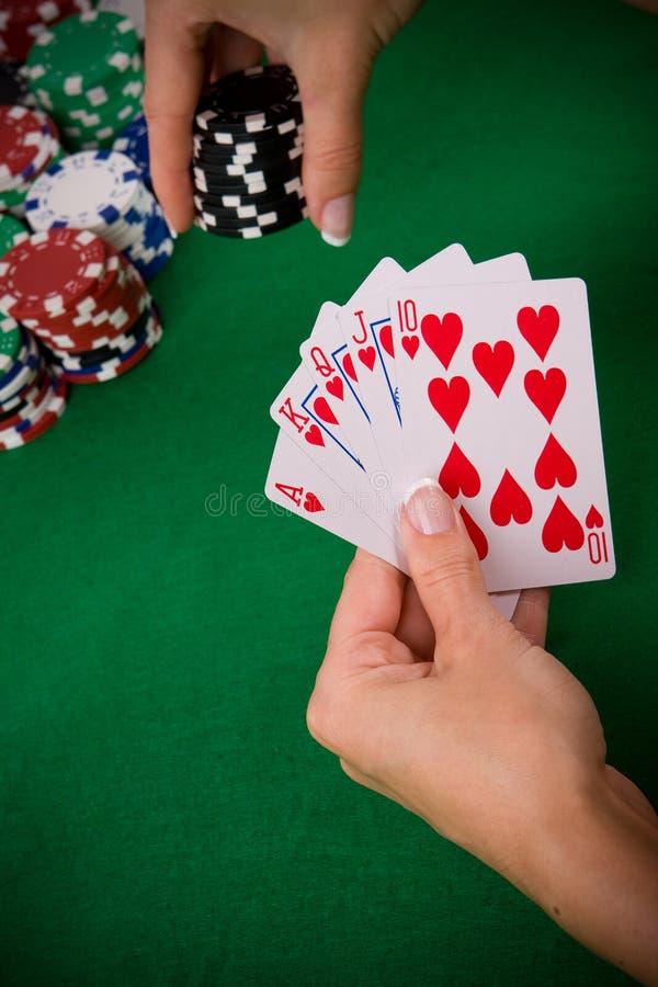 πόκερ καρτών ρύθμισης στοκ φωτογραφίες με δικαίωμα ελεύθερης χρήσης