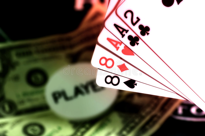 πόκερ παιχνιδιών στοκ φωτογραφίες