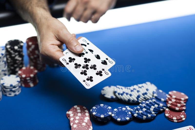 Πόκερ στη χαρτοπαικτική λέσχη στοκ φωτογραφία με δικαίωμα ελεύθερης χρήσης