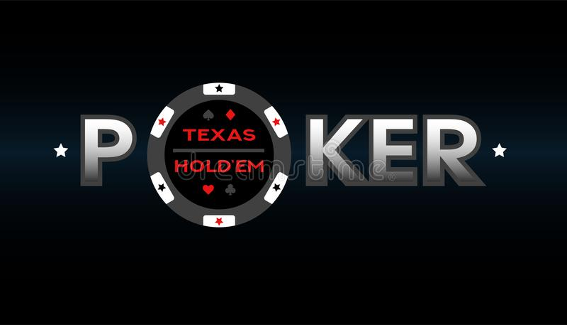 Πόκερ του Τέξας Holdem, διανυσματική απεικόνιση διανυσματική απεικόνιση