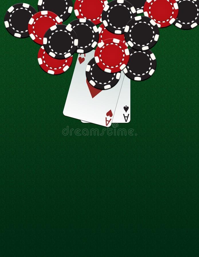 πόκερ τσιπ απεικόνιση αποθεμάτων