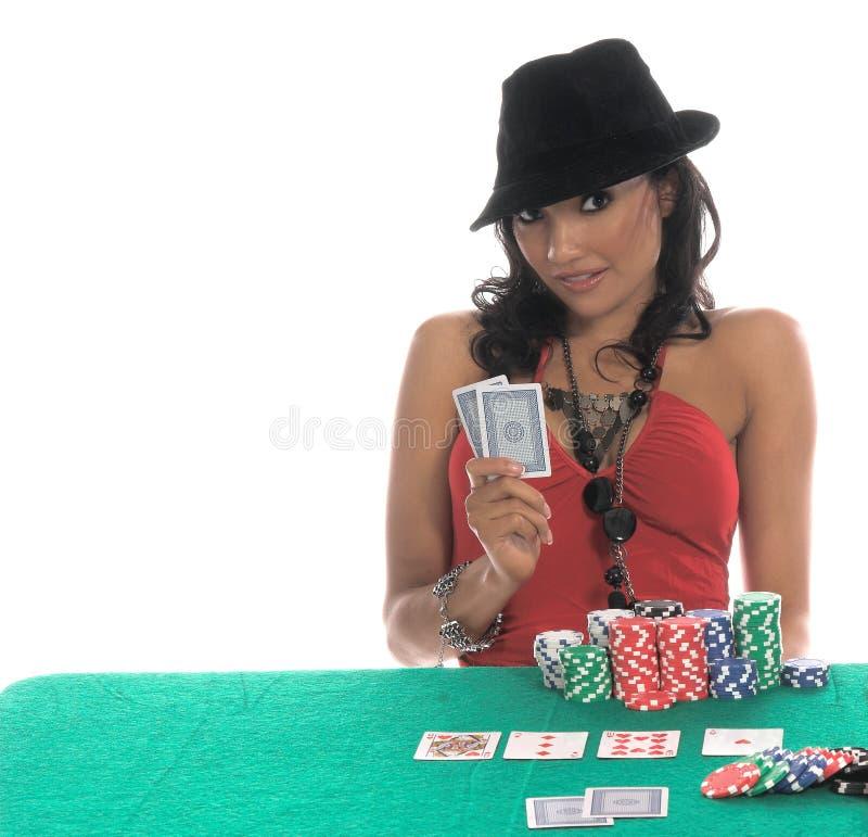 πόκερ φορέων προκλητικό στοκ εικόνα με δικαίωμα ελεύθερης χρήσης