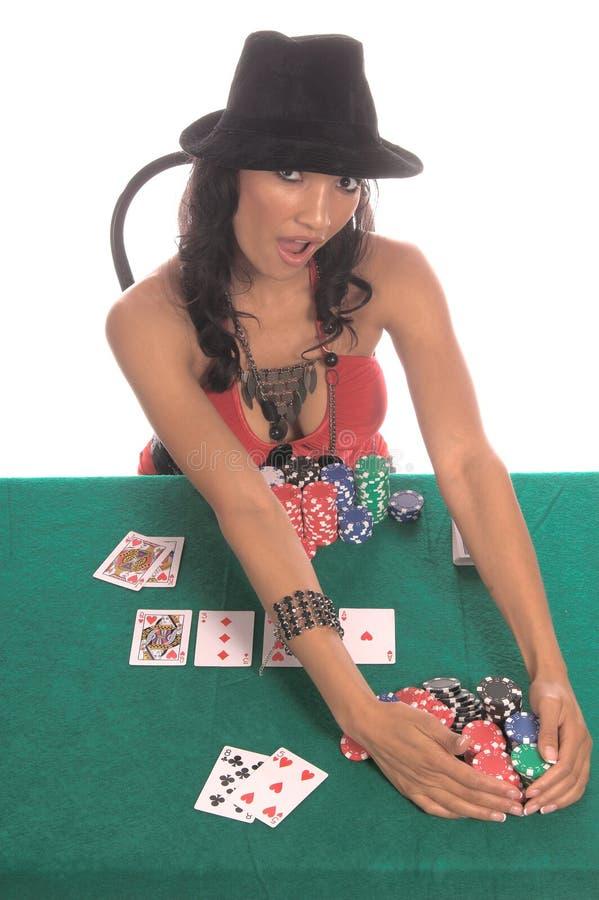 πόκερ φορέων προκλητικό στοκ φωτογραφίες με δικαίωμα ελεύθερης χρήσης