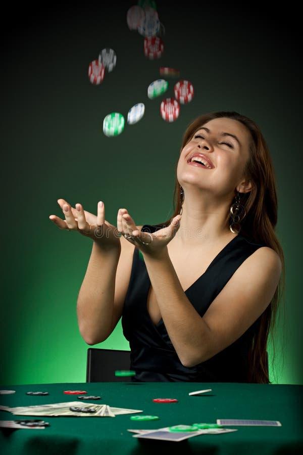 πόκερ φορέων τσιπ χαρτοπαι στοκ εικόνες