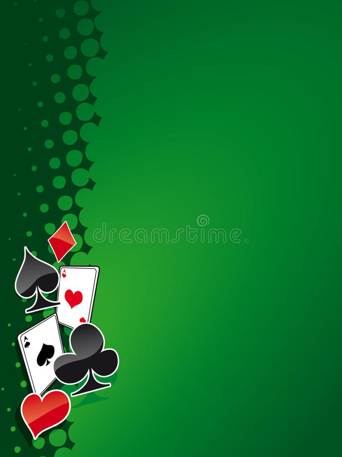 πόκερ 5 BG απεικόνιση αποθεμάτων