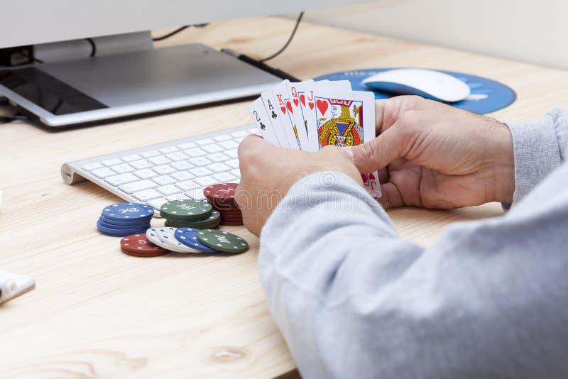 Πόκερ on-line στοκ φωτογραφίες