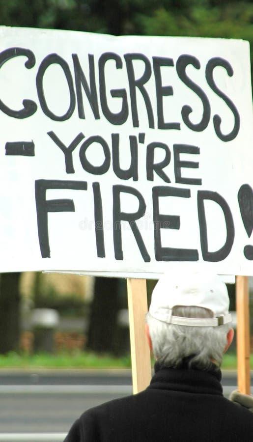 πόλεμος διαμαρτυρομένων στοκ φωτογραφία