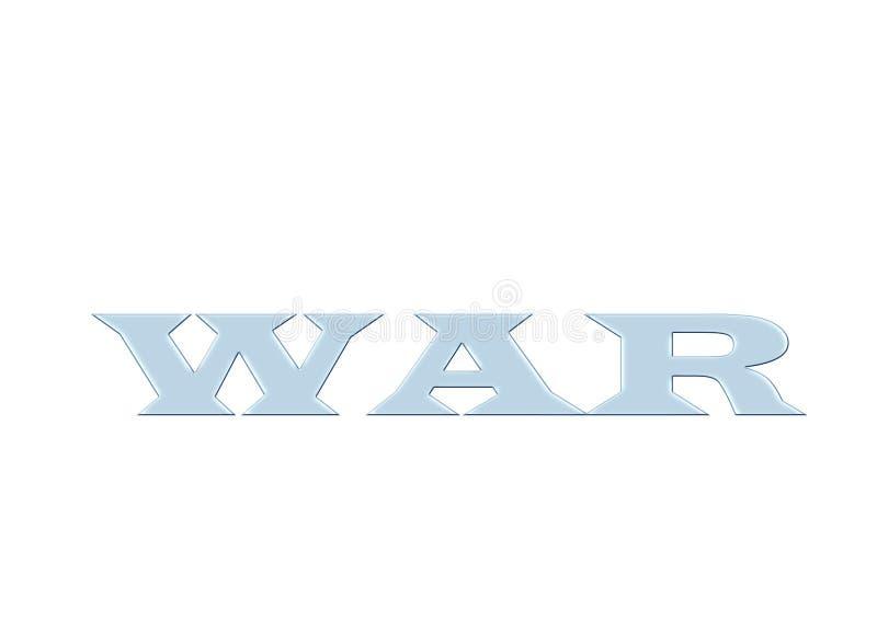 Πόλεμος - μπλε κείμενο γυαλιού στοκ εικόνες