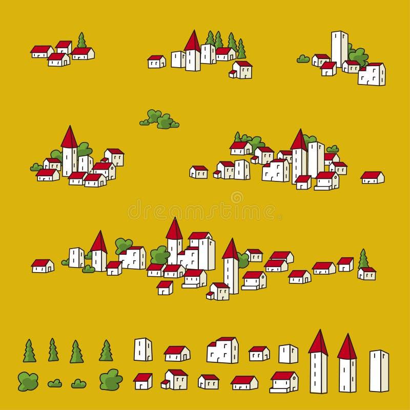 πόλης διάνυσμα χαρτών απεικόνιση αποθεμάτων