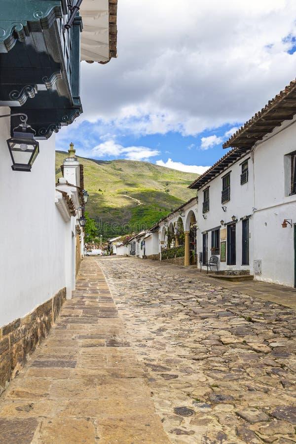 Πόλης οδοί de leyva βιλών στοκ φωτογραφία με δικαίωμα ελεύθερης χρήσης