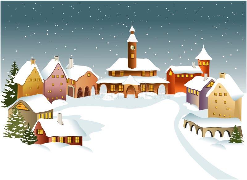 πόλης χειμώνας ελεύθερη απεικόνιση δικαιώματος