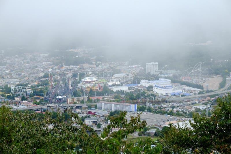 Πόλη άποψης από το πάρκο Kawaguchiko στοκ εικόνες με δικαίωμα ελεύθερης χρήσης
