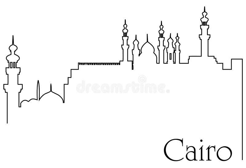 Πόλη ένα του Καίρου αφηρημένο υπόβαθρο σχεδίων γραμμών διανυσματική απεικόνιση