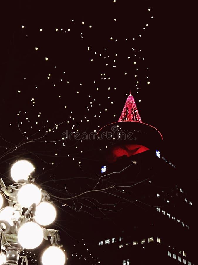 Πόλη αερίου Χριστουγέννων στο Βανκούβερ στοκ εικόνες