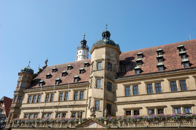 πόλη αιθουσών rothenburg στοκ φωτογραφίες