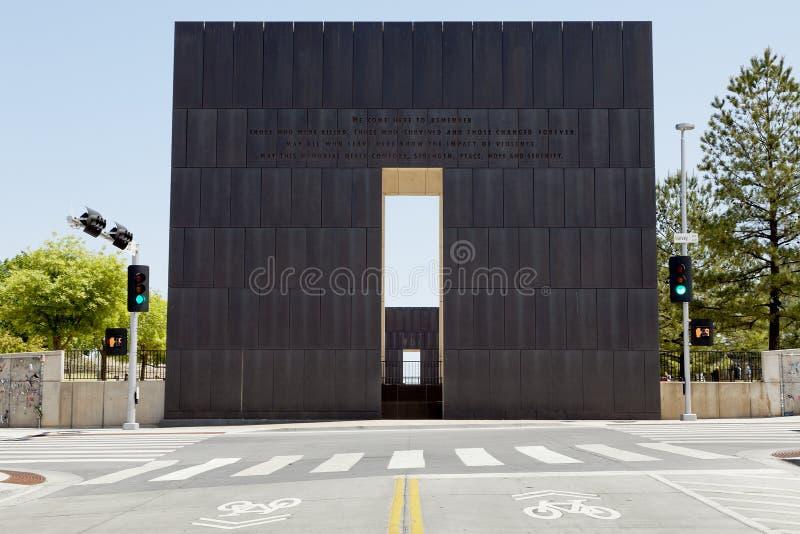 πόλη αναμνηστική εθνική Οκλαχόμα στοκ εικόνα με δικαίωμα ελεύθερης χρήσης