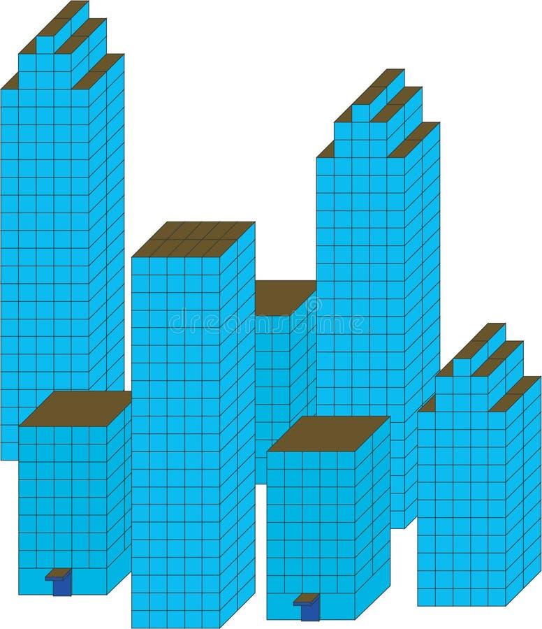 πόλη αρχιτεκτονικής απεικόνιση αποθεμάτων
